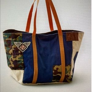 AEO Logo & Camo Patch Tote Bag OUTFITTERS